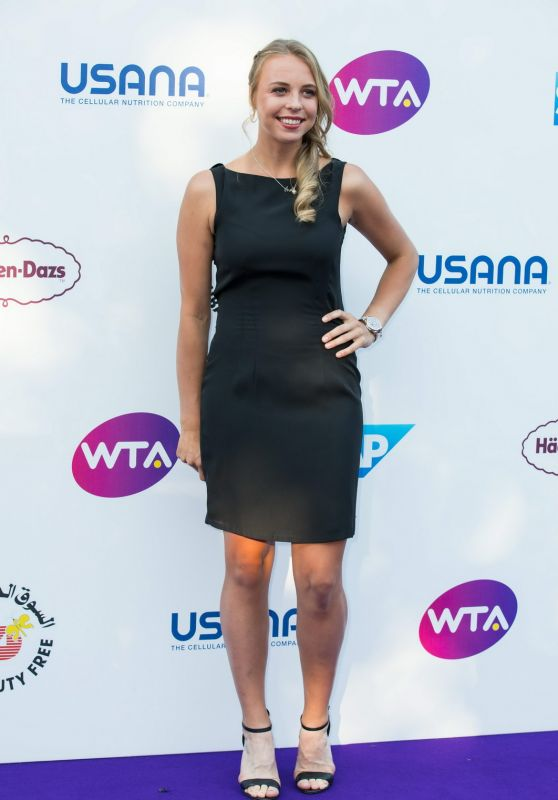 Anett Kontaveit – WTA Tennis on The Thames Evening Reception in London 06/28/2018