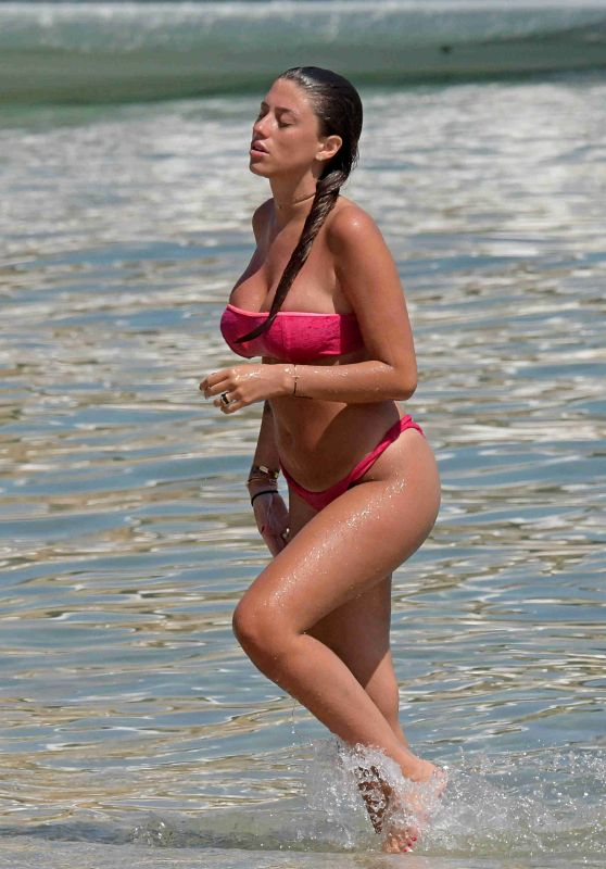 Angela Nasti in Bikini at Solymar Restaurant in Kalo Livadi Beach in Mykonos 06/14/2018