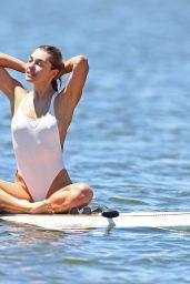 Ashley Hart in Swimsuit - Paddle Boarding in Montauk 06/27/2018