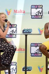 Becca Dudley – Isle of MTV Press Conference in Malta 06/27/2018
