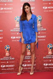 Belen Rodriguez - Press Conference Mediaset FIFA World Cup Russia 2018 in Milan