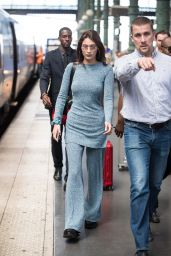 Bella Hadid - Arrives in Paris via Gare du Nord 06/20/2018