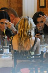 Bella Hadid, Kendall Jenner, Kristen Stewart and Stella Maxwell - Dinner Together in Milan 06/16/2018