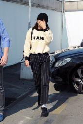 Bella Hadid - Leaves Milan 06/17/2018