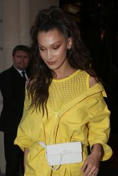 Bella Hadid - Leaving Her Hotel in Paris 06/21/2018