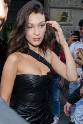 Bella Hadid - Leaving Versace Men SS 2019 Show - Milan Fashion Week 06/16/2018