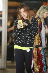 Bella Thorne Makeup Free - LAX in LA 06/17/2018