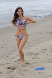 Blanca Blanco in Bikini - Plays With a Frisbee at the Beach in Malibu, 06/24/2018