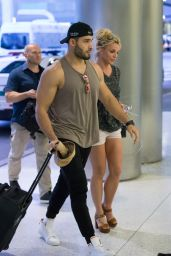 Britney Spears and Boyfriend Sam Asghari - Airport in Miami 06/10/2018