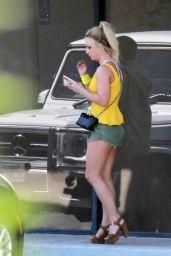 Britney Spears Leggy in Shorts - LA 06/04/2018