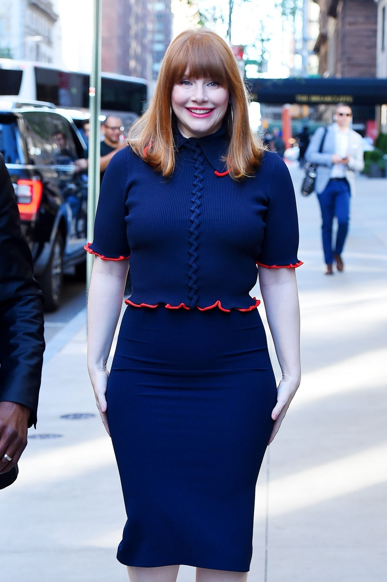 Bryce Dallas Howard Arriving To Appear On Today Show In