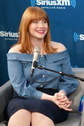 Bryce Dallas Howard at SiriusXM Studios in NYC 06/14/2018