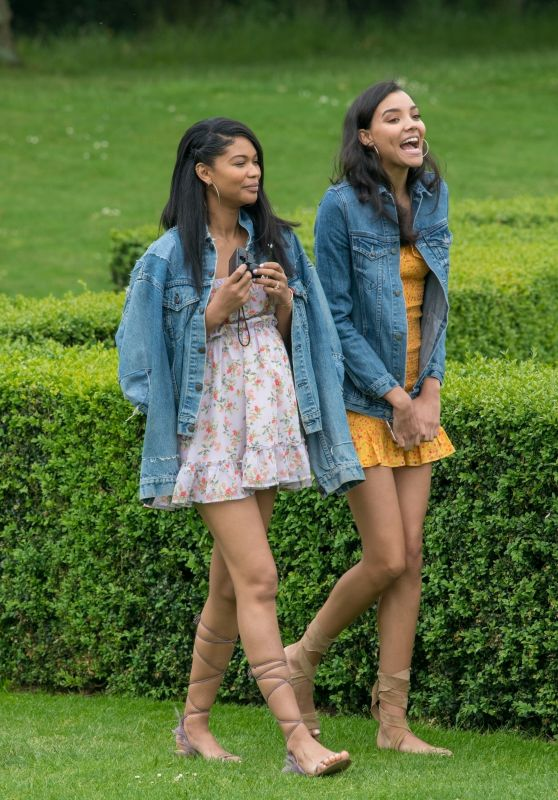 Chanel Iman and Nickayla Rivera at a Country Estate Near Windsor 05/30/2018
