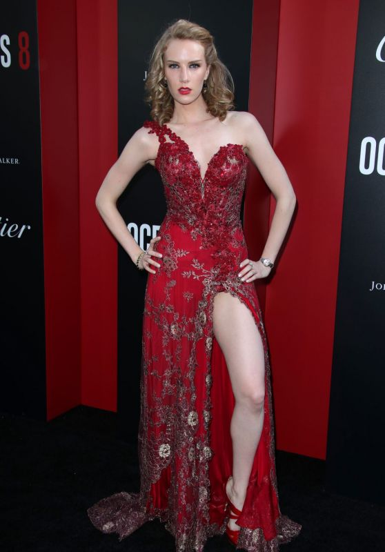 "Charlotte Kirk – ""Ocean's 8"" Premiere in New York City"
