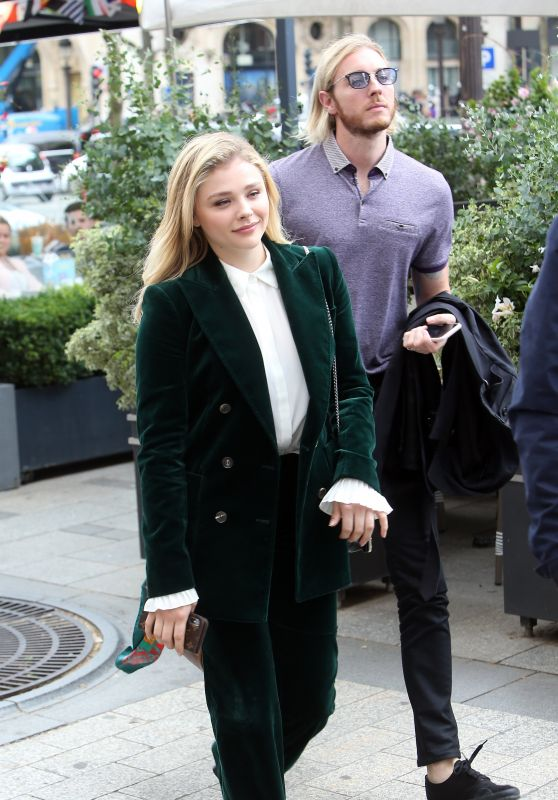 Chloë Grace Moretz and Her Brother Trevor Duke Moretz - Paris 06/18/2018