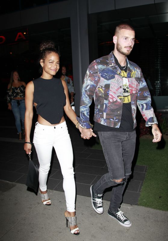 Christina Milian at BOA Steakhouse in Los Angeles 06/07/2018