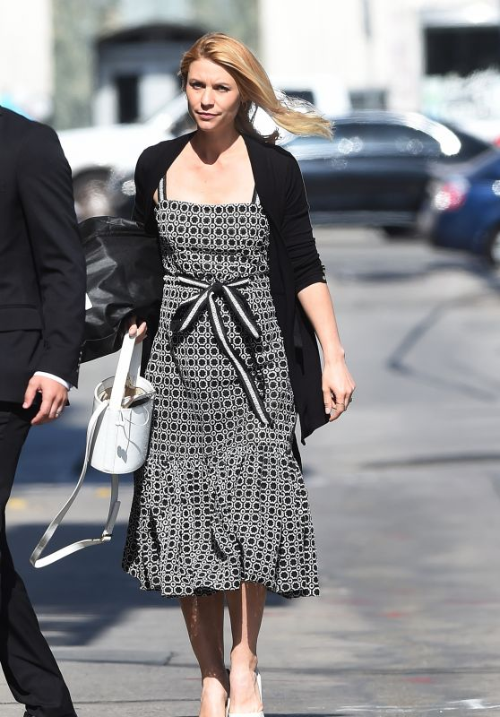 Claire Danes Arriving to Appear on Jimmy Kimmel Show in LA 05/31/2018
