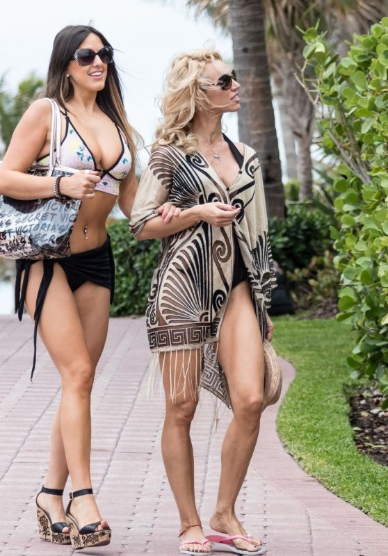 Claudia Romani and Carol Paredes in Bikinis at South Point in South Beach 06/03/2018