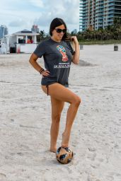 Claudia Romani - Celebrating the Start of the World Cup on South Beach 06/13/2018
