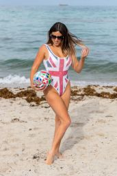 Claudia Romani in Swimsuit - Supporting England in the World Cup in Miami 06/21/2018