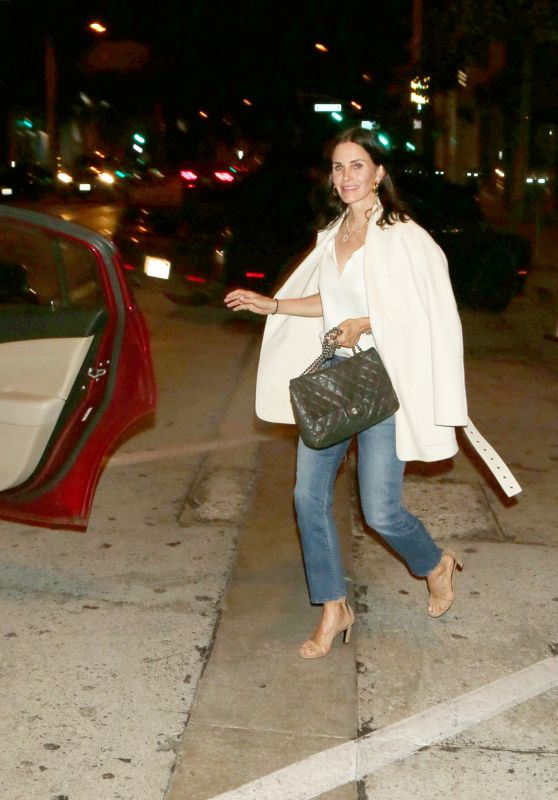 Courteney Cox - Grabs an Uber Ride in West Hollywood 05/30/2018