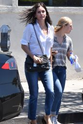 Courteney Cox in Casual Outfit - Los Angeles 06/27/2018