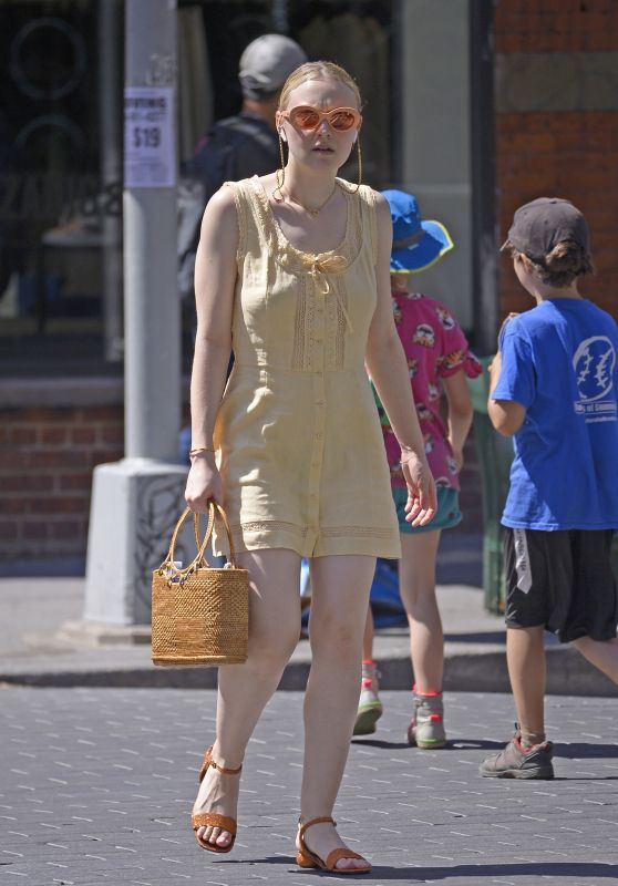 Dakota Fanning - Out in SOHO in NYC 06/26/2018