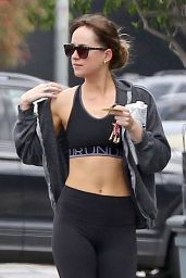 Dakota Johnson in Workout Outfit - Leaves Pilates in LA 06/18/2018