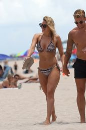 Danielle Armstrong in Bikini - Beach in Miami 06/26/2018