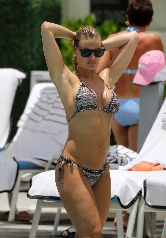 Danielle Armstrong in Bikini by the Pool in Miami 06/27/2018