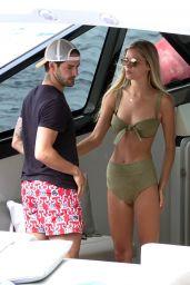 Danielle Knudson on Yacht in Capri 06/12/2018