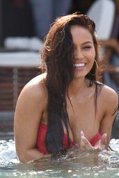 Daphne Joy in a Red Bikini in Mykonos 06/21/2018