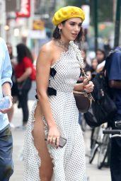 Dua Lipa in a Polka Dot Dress - New York City 06/20/2018