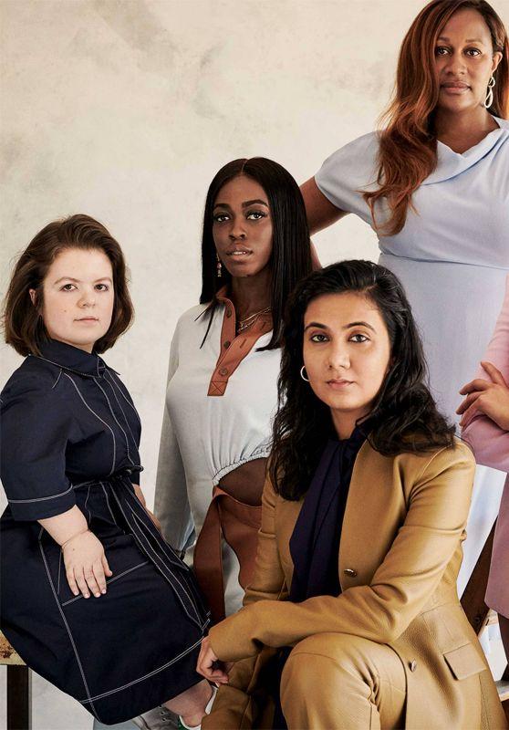 Dua Lipa, Sinéad Burke, Grace Ladoja, Priyanka Joshi and Karen Blackett - Photoshoot for British Vogue