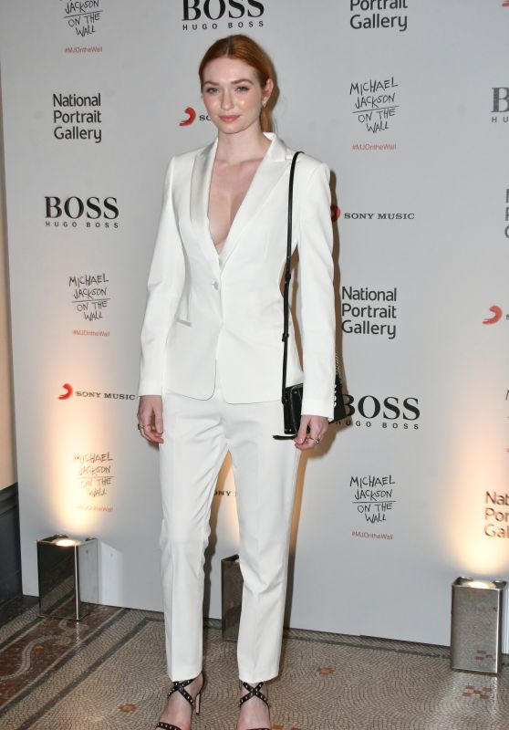 "Eleanor Tomlinson - ""Michael Jackson: On The Wall"" Exhibition Private View in London"