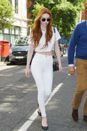 Eleanor Tomlinson - Outside BBC Radio Two Studios in London 06/08/2018