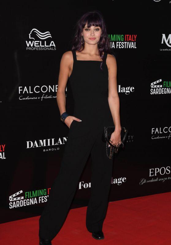 Ella Purnell – Filming Italy Sardegna Festival Dinner in Cagliari 06/15/2018