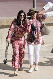 Emeraude Toubia and Her Mother in Paris 06/18/2018