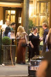 Emeraude Toubia and Katherine McNamara - Café de la Paix in Paris 06/15/2018