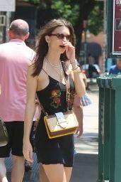 Emily Ratajkowski Summer Street Style - Little Italy in New York City 06/09/2018
