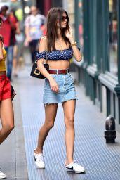 Emily Ratajkowski Summer Style - Shopping in Soho, NY 06/20/2018