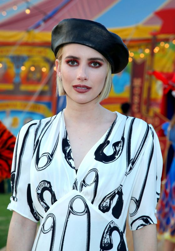 Emma Roberts – Moschino S/S 2019 Menswear And Women's Resort Collection in Burbank