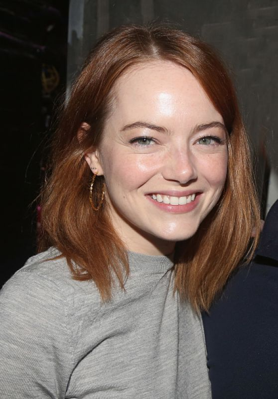 "Emma Stone - Backstage at 2018 Tony Winning Best Musical ""The Band"
