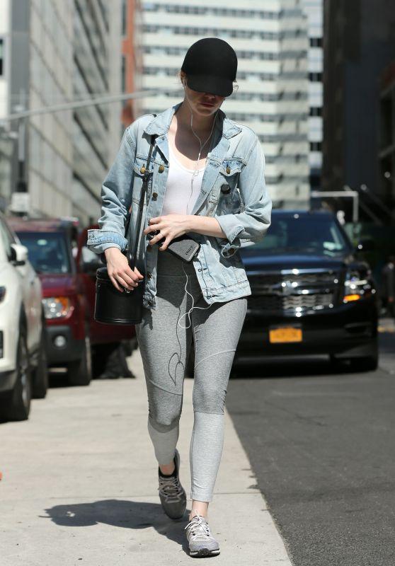 Emma Stone - Walks to The Class by Taryn Toomey in Tribeca in NYC 06/09/2018