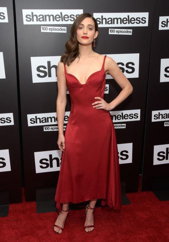 """Emmy Rossum – """"Shameless"""" 100th Episode Red Carpet Celebration in LA"""
