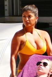 Erika Medina in a Yellow Bikini - Holiday in Las Vegas 06/28/2018