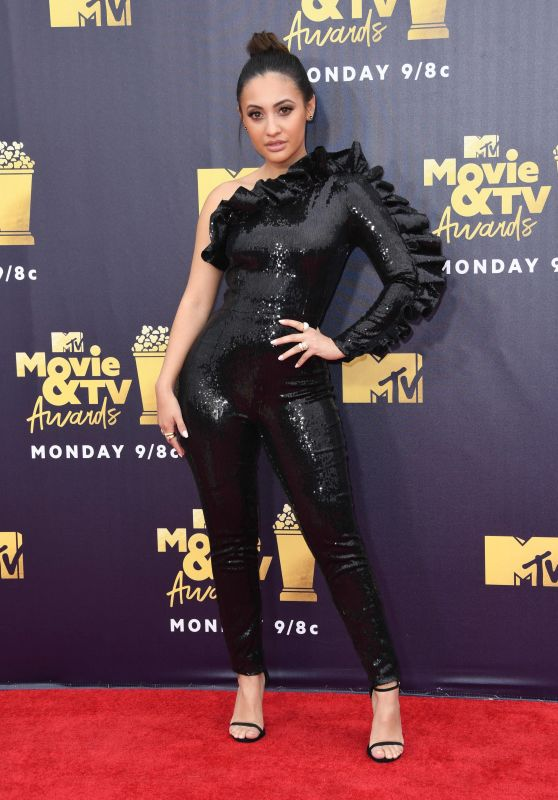 Francia Raisa – 2018 MTV Movie And TV Awards in Santa Monica