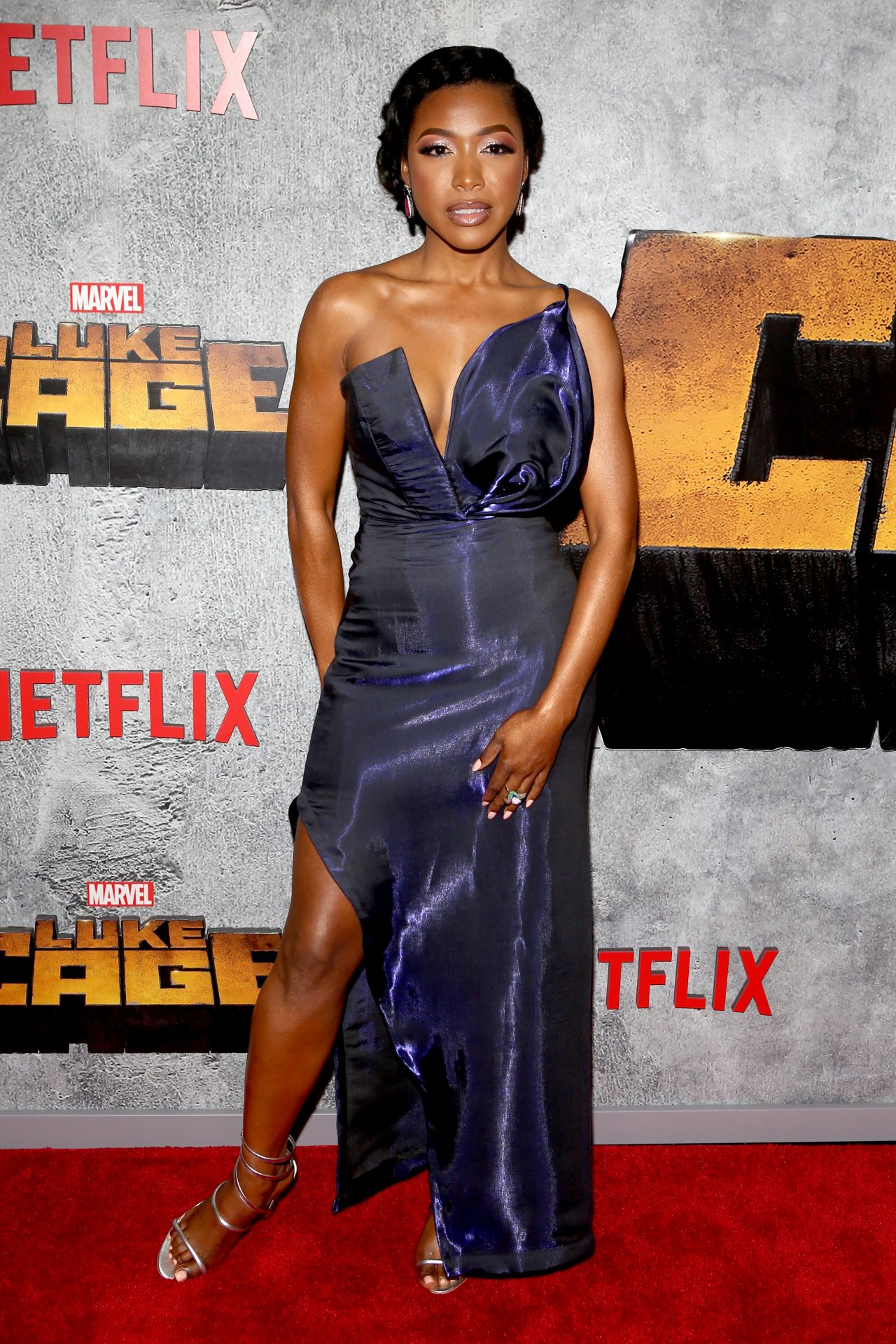 Gabrielle dennis at the premiere of the bobby brown story in hollywood