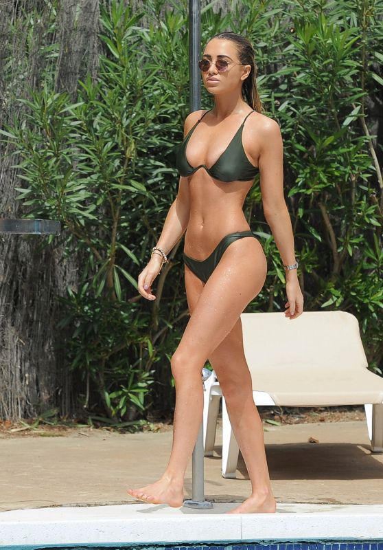 Georgia Harrison in Bikini by the Pool in Marbella, June 2018