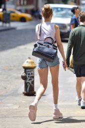 Gigi Hadid in Tiny Shorts in NYC 06/25/2018